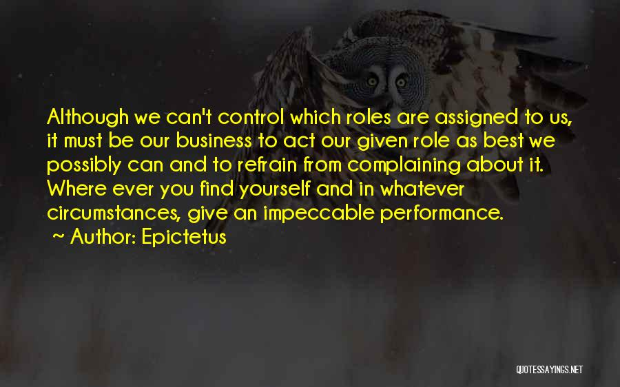 Act Now Motivational Quotes By Epictetus