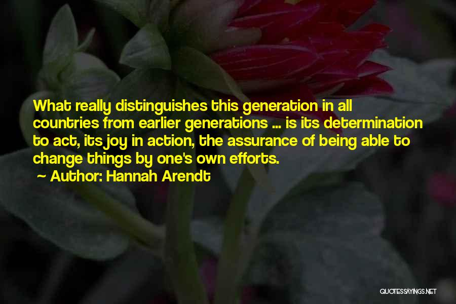 Act Now Motivational Quotes By Hannah Arendt