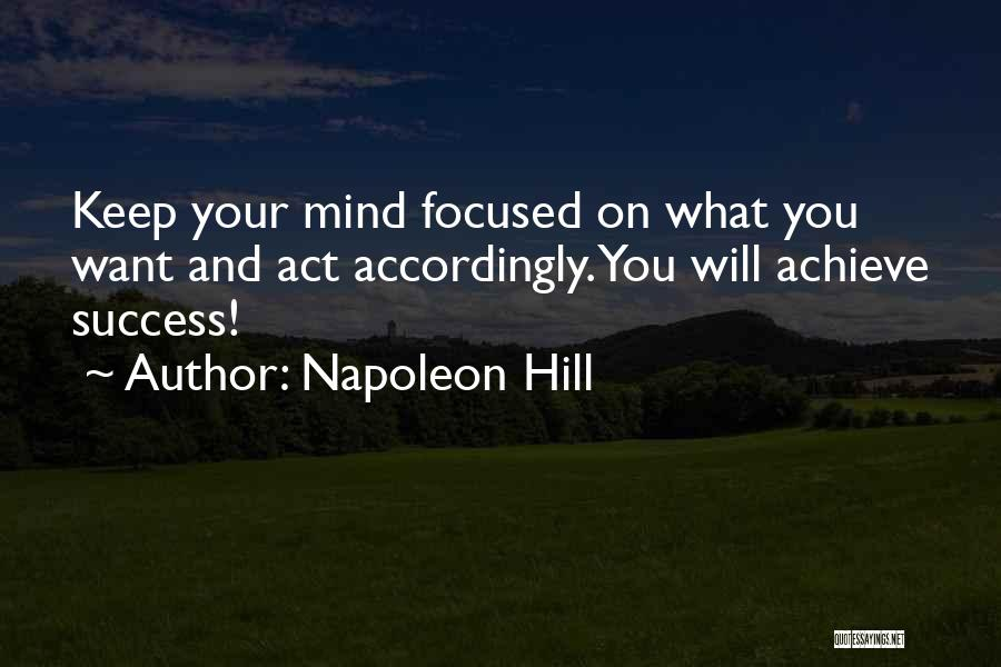 Act Now Motivational Quotes By Napoleon Hill