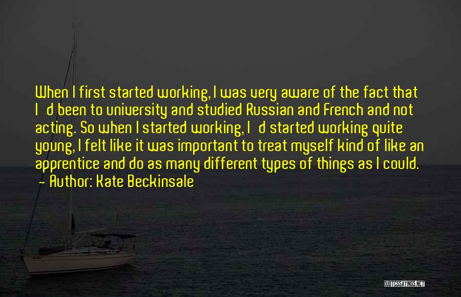 Acting Young Quotes By Kate Beckinsale