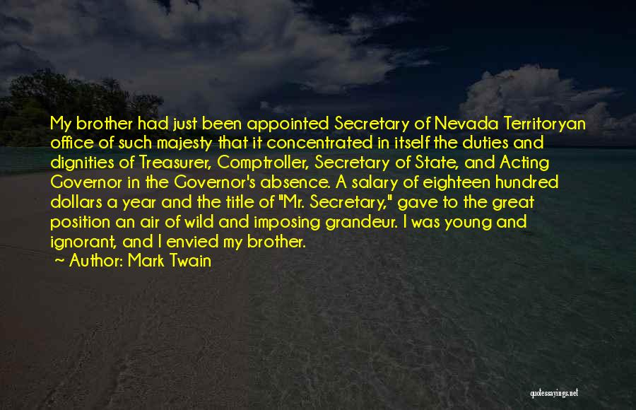 Acting Young Quotes By Mark Twain
