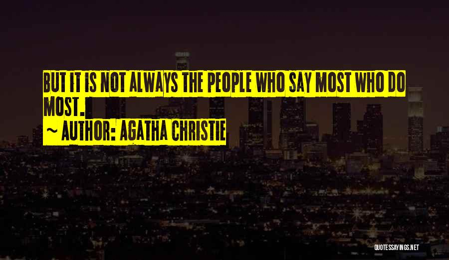 Action Speaks Louder Quotes By Agatha Christie