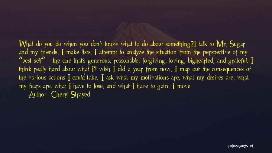 Actions And Trust Quotes By Cheryl Strayed
