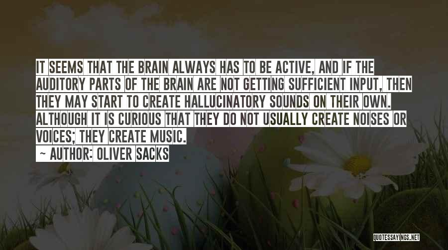 Active Voice Quotes By Oliver Sacks