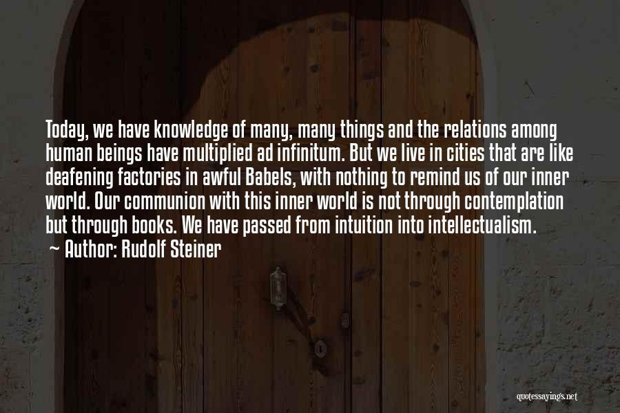 Ad Infinitum Quotes By Rudolf Steiner