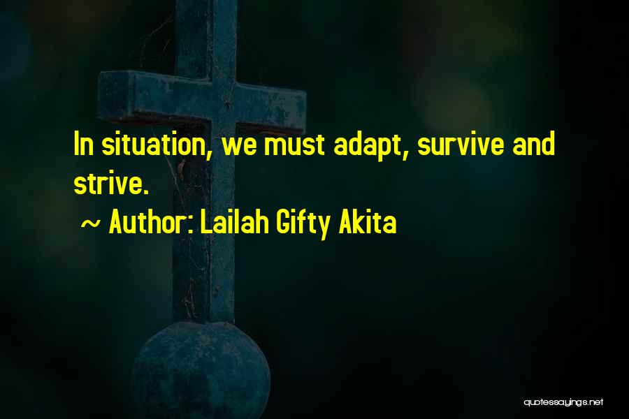Adapt Motivational Quotes By Lailah Gifty Akita