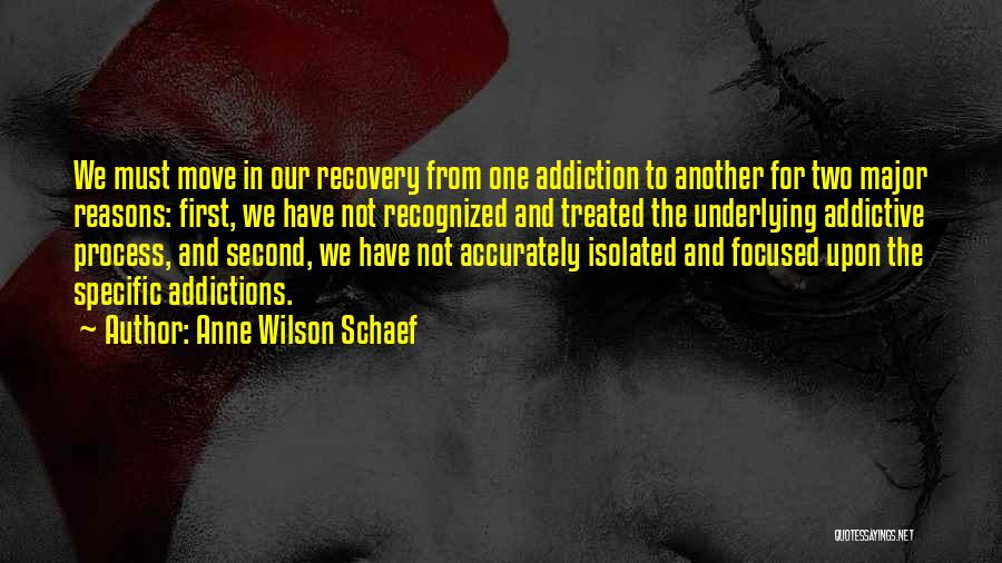 Addiction Recovery Quotes By Anne Wilson Schaef