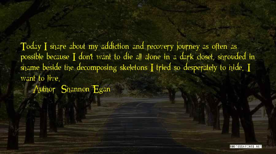 Addiction Recovery Quotes By Shannon Egan