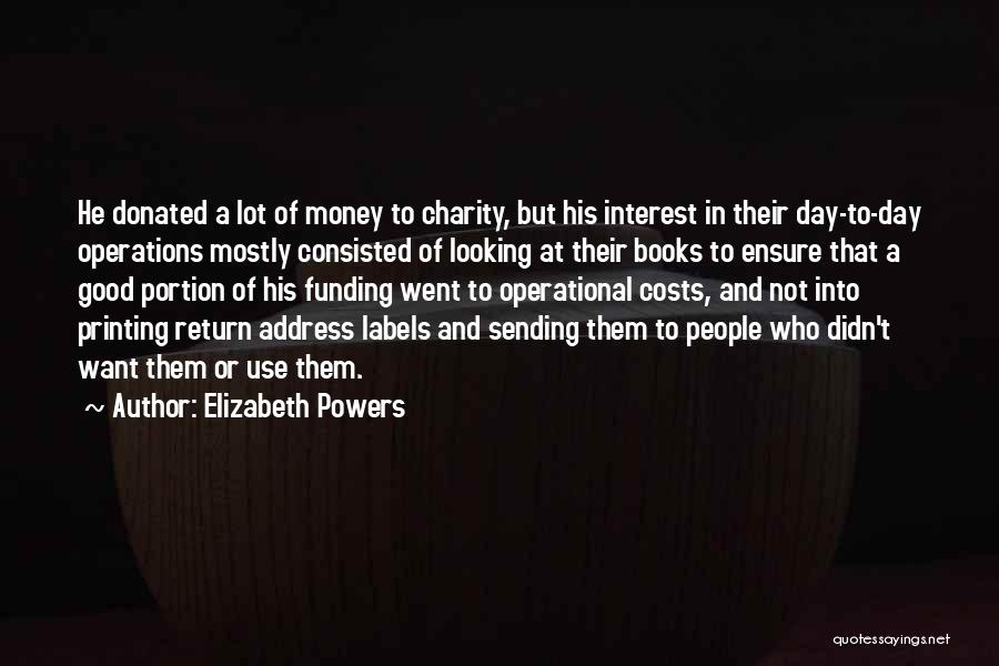 Address Books Quotes By Elizabeth Powers