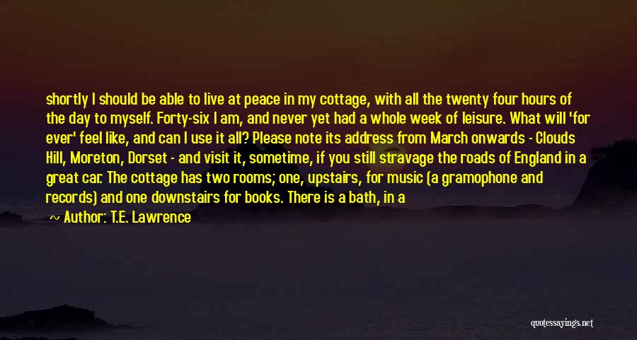 Address Books Quotes By T.E. Lawrence