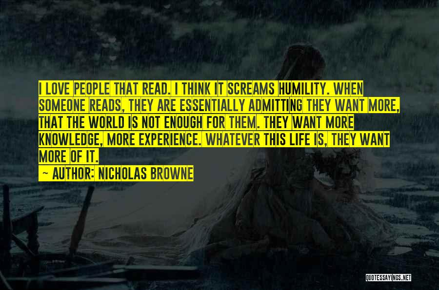 Admitting You Love Someone Quotes By Nicholas Browne