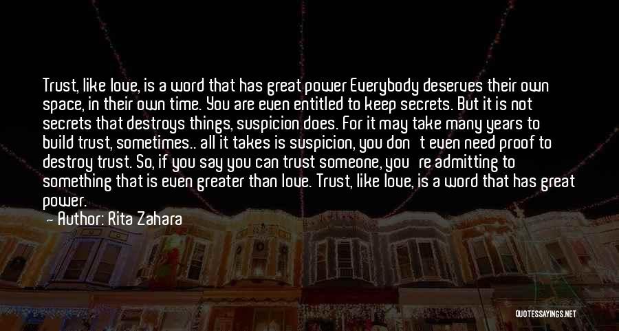 Admitting You Love Someone Quotes By Rita Zahara