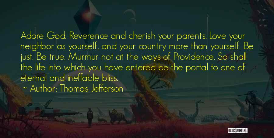 Adore Yourself Quotes By Thomas Jefferson