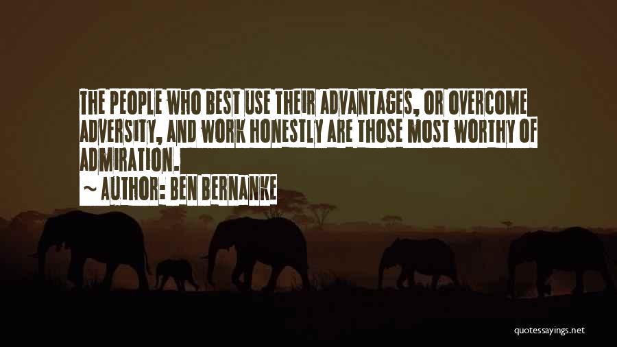 Adversity Quotes By Ben Bernanke