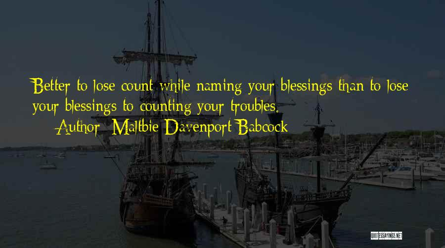 Adversity Quotes By Maltbie Davenport Babcock
