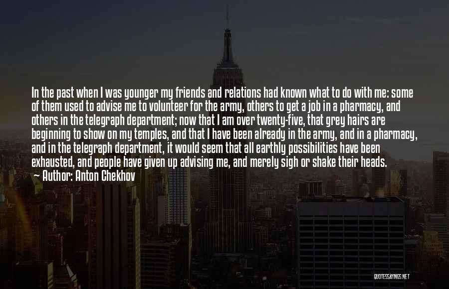 Advising Friends Quotes By Anton Chekhov