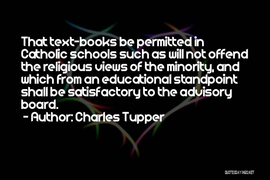 Advisory Quotes By Charles Tupper