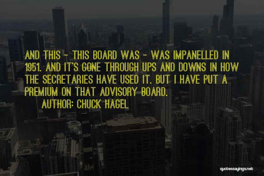Advisory Quotes By Chuck Hagel