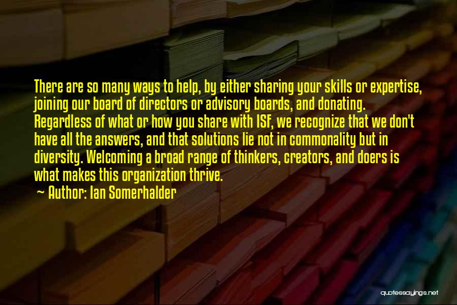 Advisory Quotes By Ian Somerhalder