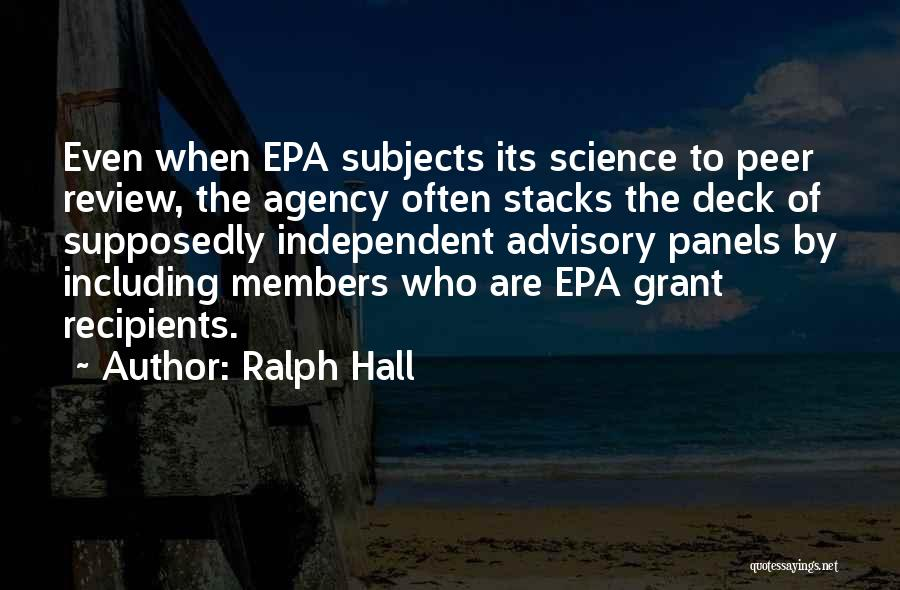 Advisory Quotes By Ralph Hall