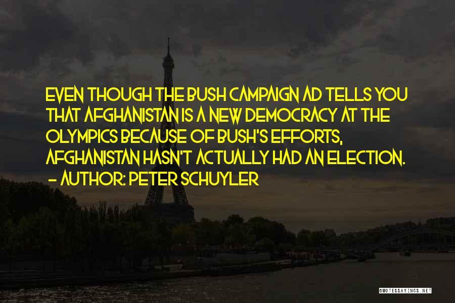 Afghanistan Election Quotes By Peter Schuyler