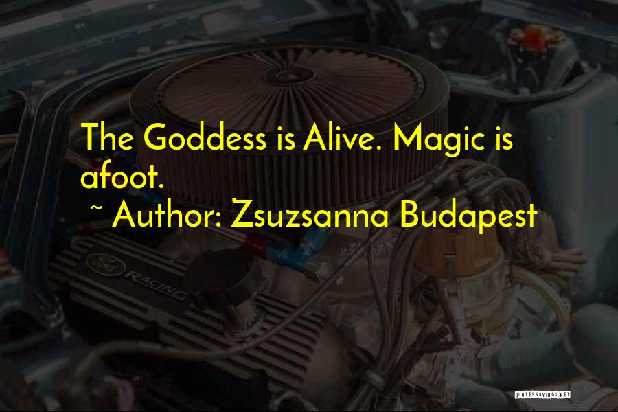 Afoot Quotes By Zsuzsanna Budapest