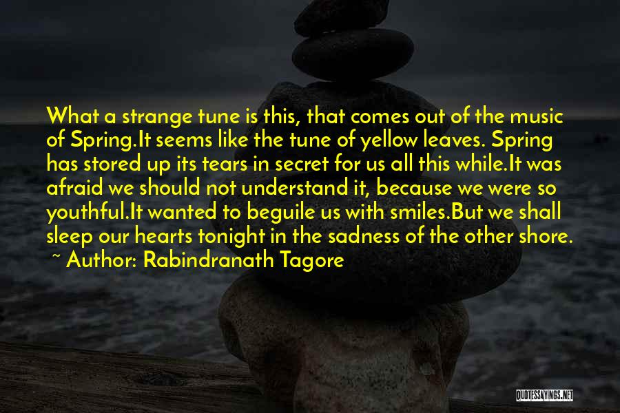 Afraid To Sleep Quotes By Rabindranath Tagore