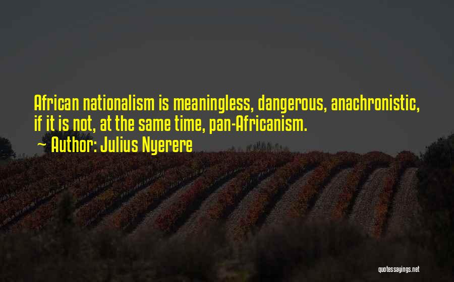 African Nationalism Quotes By Julius Nyerere