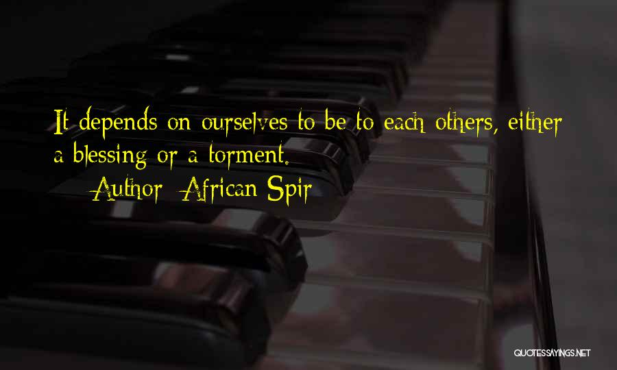 African Spir Quotes 1303637