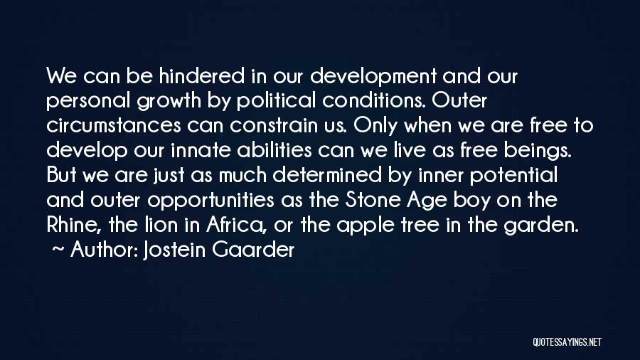 Africa's Potential Quotes By Jostein Gaarder