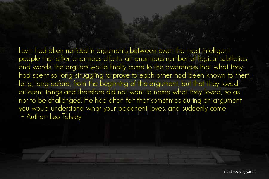 After Argument Love Quotes By Leo Tolstoy