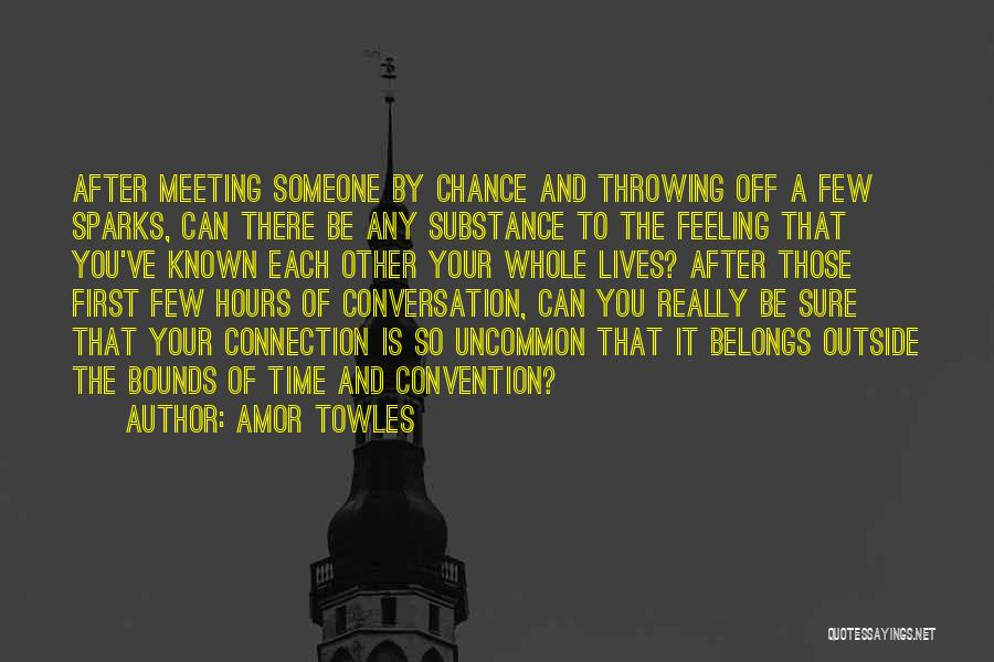 After Meeting You Quotes By Amor Towles