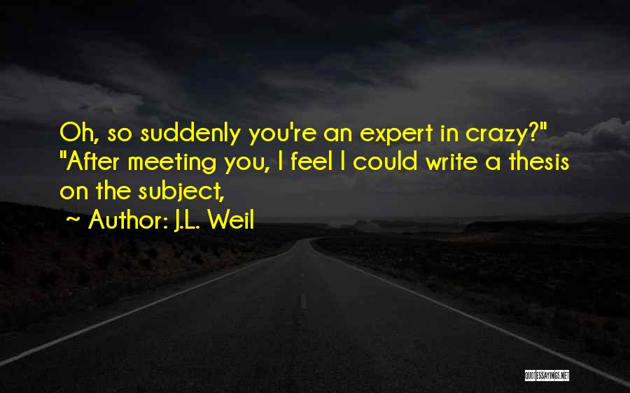 After Meeting You Quotes By J.L. Weil