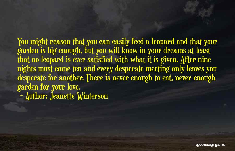 After Meeting You Quotes By Jeanette Winterson