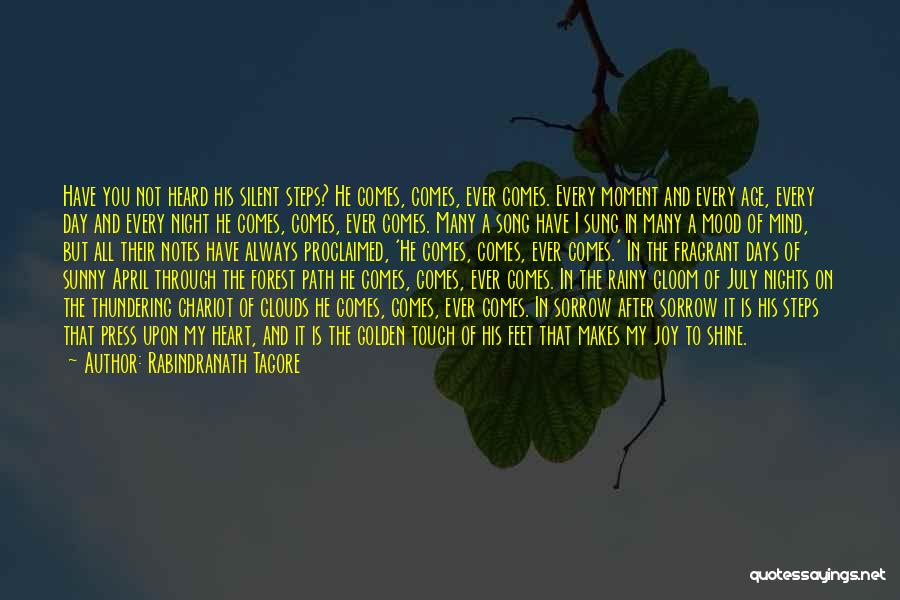 After Rainy Day Quotes By Rabindranath Tagore