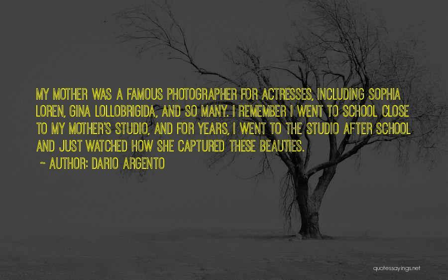 After School Quotes By Dario Argento