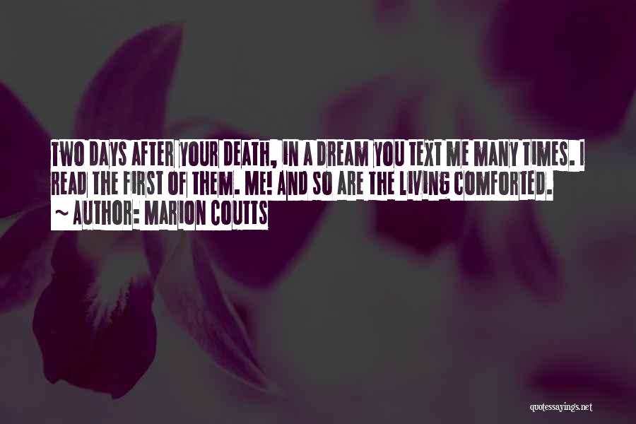 After So Many Days Quotes By Marion Coutts