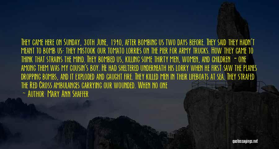 After Some Days Quotes By Mary Ann Shaffer