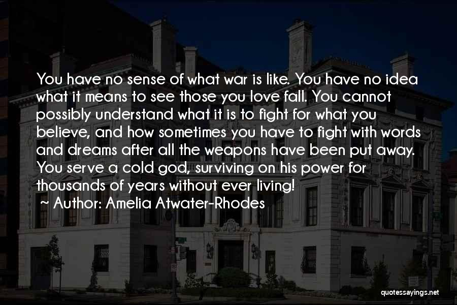After The War Quotes By Amelia Atwater-Rhodes