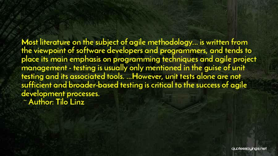 Agile Methodology Quotes By Tilo Linz