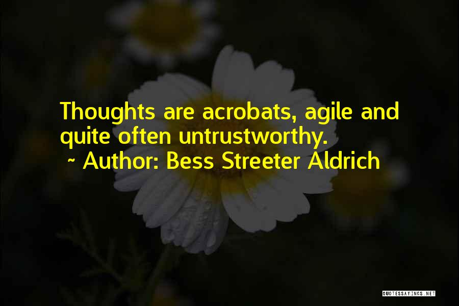 Agile Quotes By Bess Streeter Aldrich
