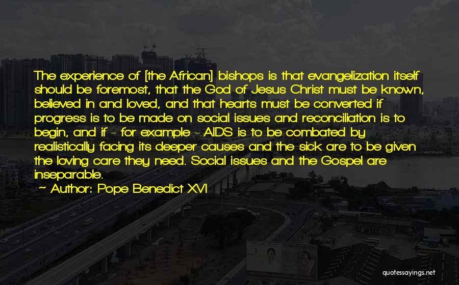 Aids Quotes By Pope Benedict XVI