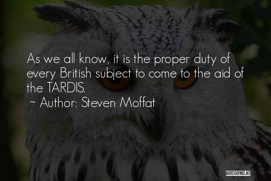 Aids Quotes By Steven Moffat