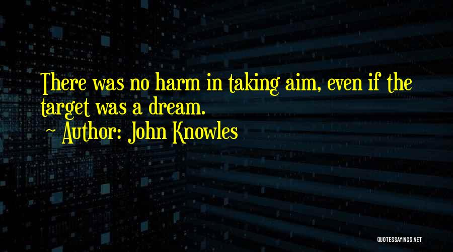 Aim Target Quotes By John Knowles