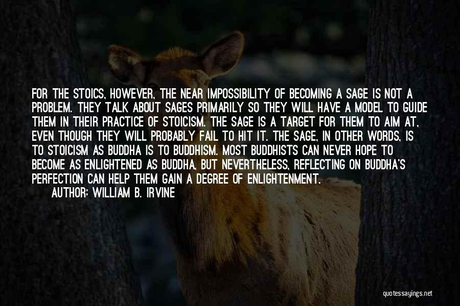 Aim Target Quotes By William B. Irvine