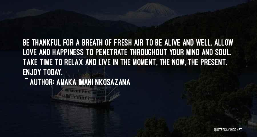 Air And Love Quotes By Amaka Imani Nkosazana