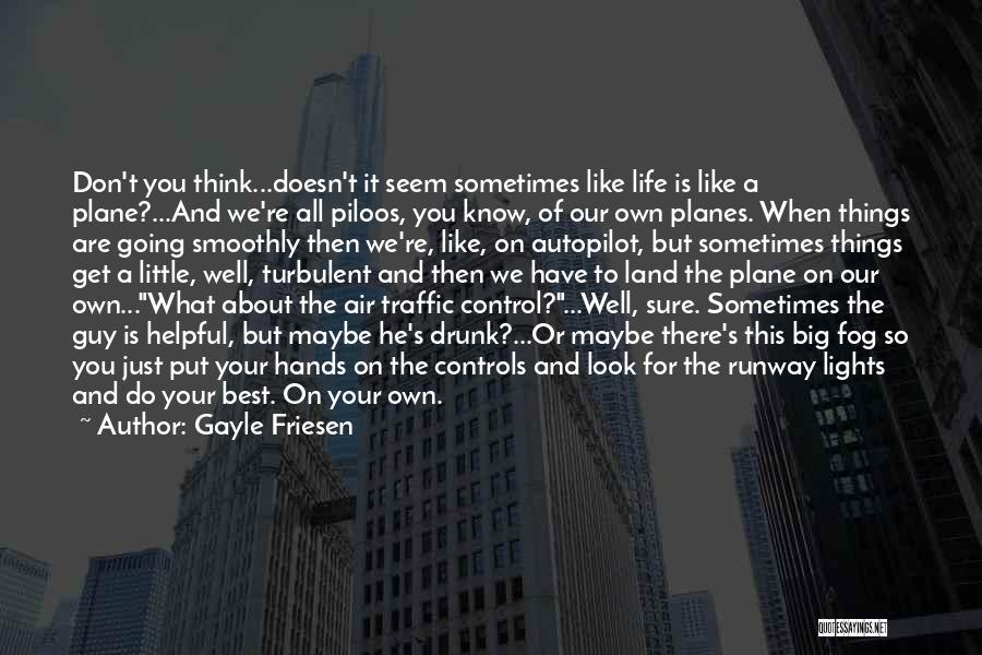 Air Traffic Control Quotes By Gayle Friesen