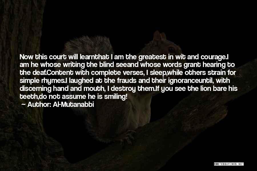 Al-Mutanabbi Quotes 379141