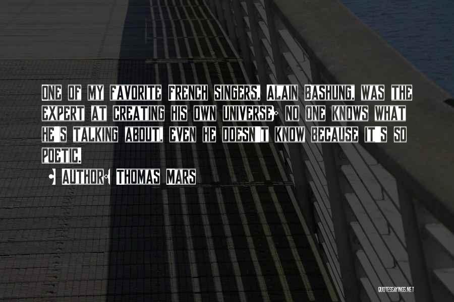 Alain Bashung Quotes By Thomas Mars