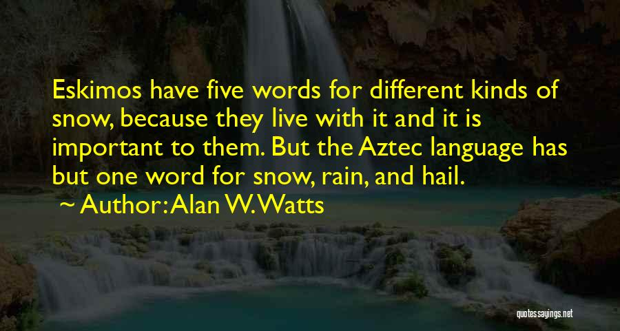 Alan W. Watts Quotes 920709
